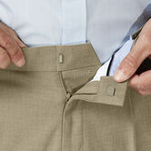 J.M. Haggar Dress Pant - Sharkskin, Oatmeal view# 4