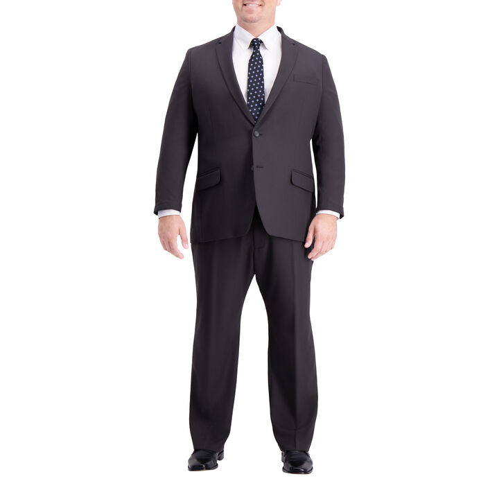 Big & Tall Active Series™ Herringbone Suit Jacket, Black / Charcoal, hi-res