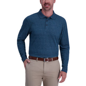 Windowpane Heather Polo, Deep Teal Marl