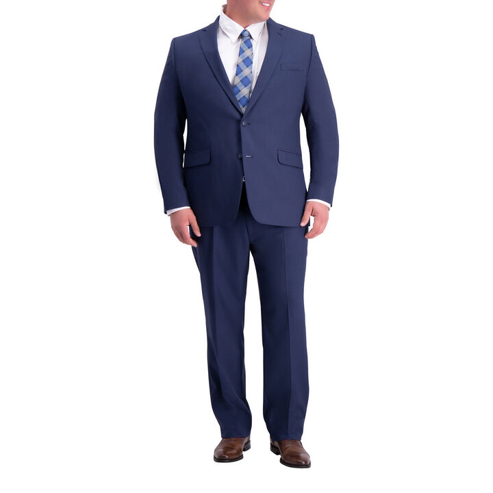 Big & Tall Travel Performance Suit Jacket, Blue open image in new window