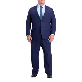 Big & Tall Active Series Herringbone Suit Jacket, Midnight