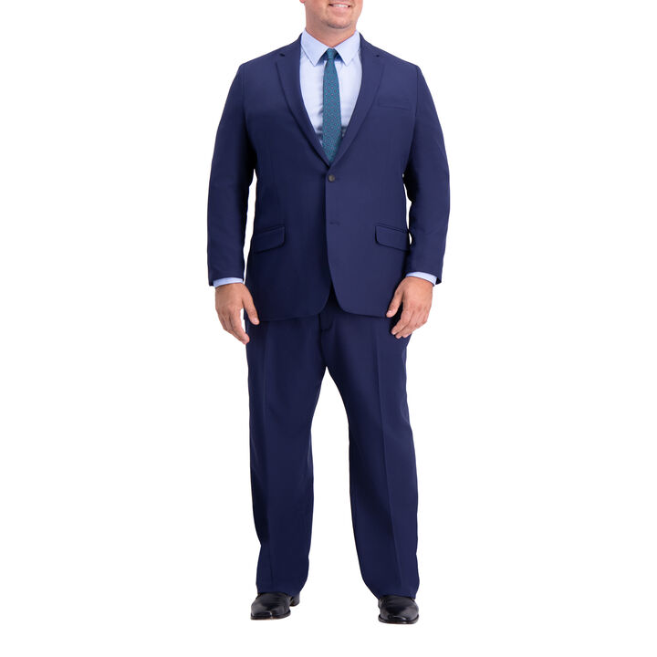 Big & Tall Active Series Herringbone Suit Jacket, Midnight, hi-res