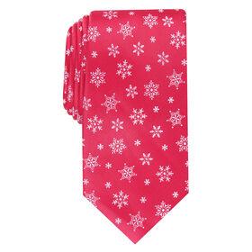 Snowflakes Tie, Red