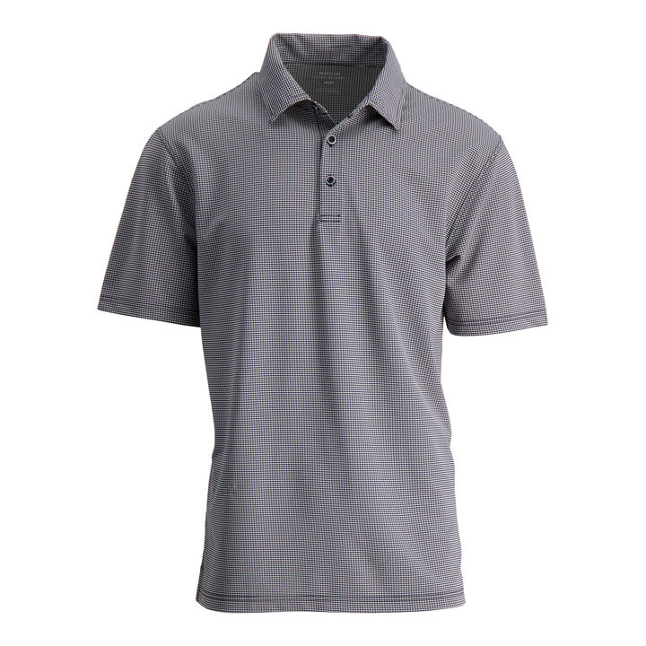 Small Gingham Polo, Black