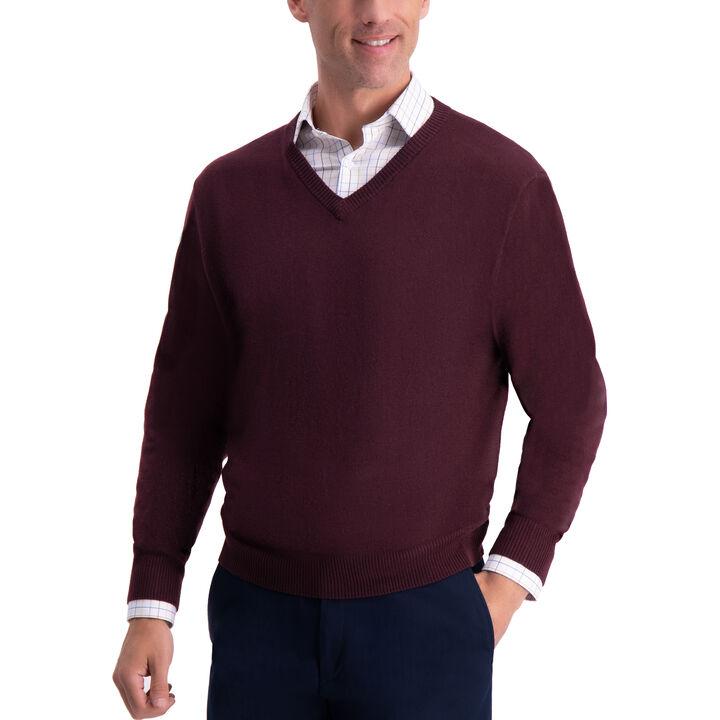 V-Neck Sweater, Sangria