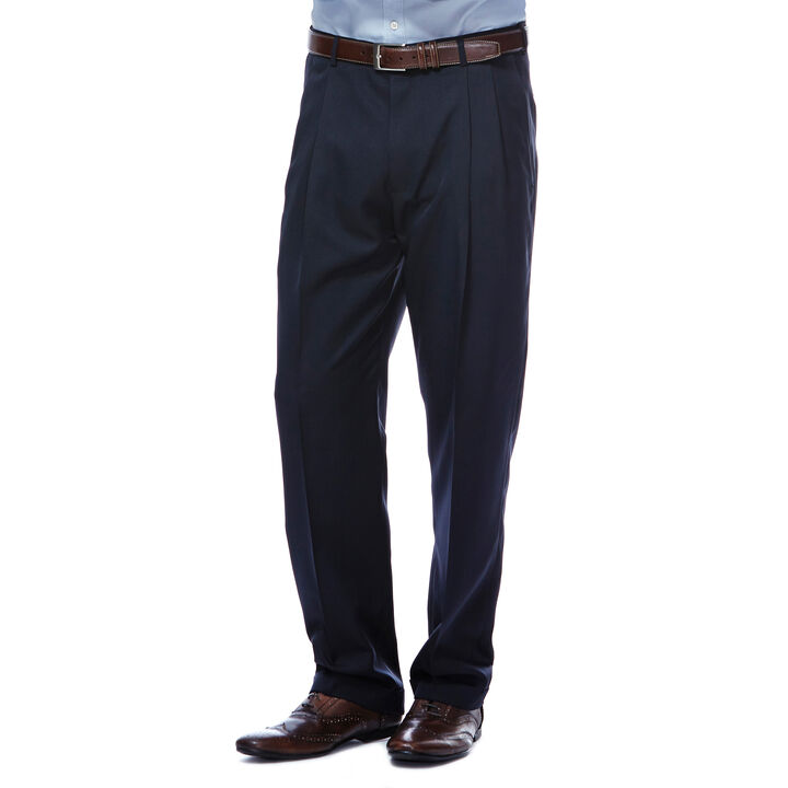 Smart Fiber Herringbone Dress Pant, Navy