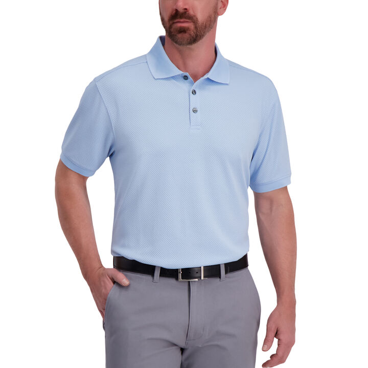 Cool 18® Pro Waffle Textured Golf Polo, Cashmere Blue open image in new window