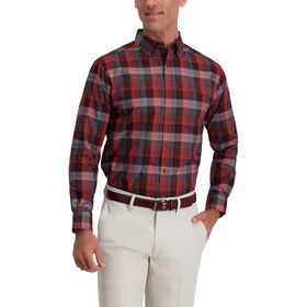 Exploded Plaid Weekender Shirt , Medium Grey