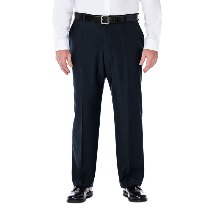 Big & Tall E-CLO™ Stria Dress Pant, Navy