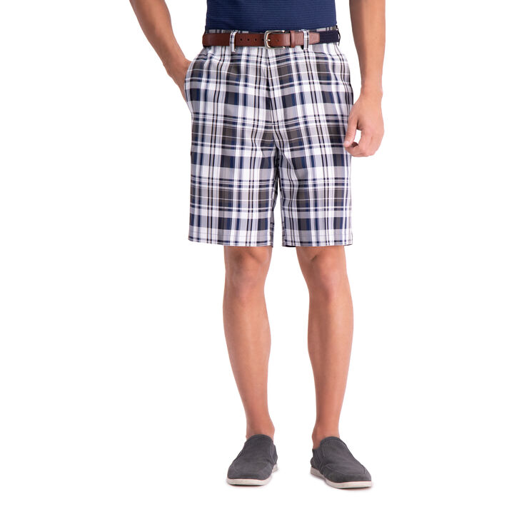 Cool 18® Pro Madras Plaid Short, Blue