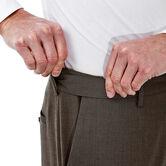 Big & Tall Premium Stretch Solid Dress Pant, Medium Brown 4