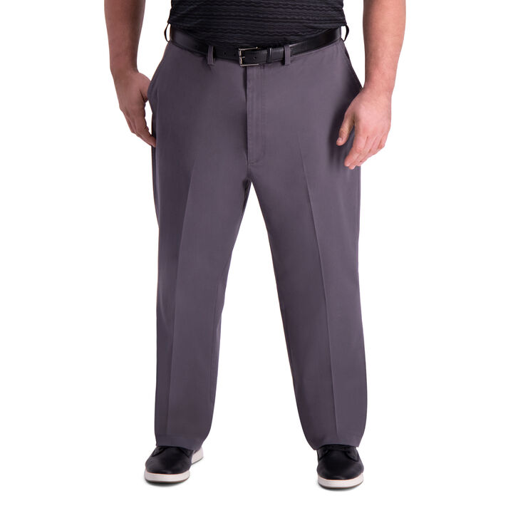 Big & Tall Premium Comfort Khaki Pant, Graphite open image in new window