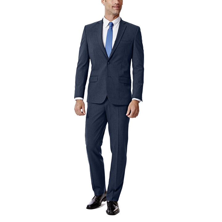 JM Haggar Slim 4 Way Stretch Suit Jacket, Blue, hi-res