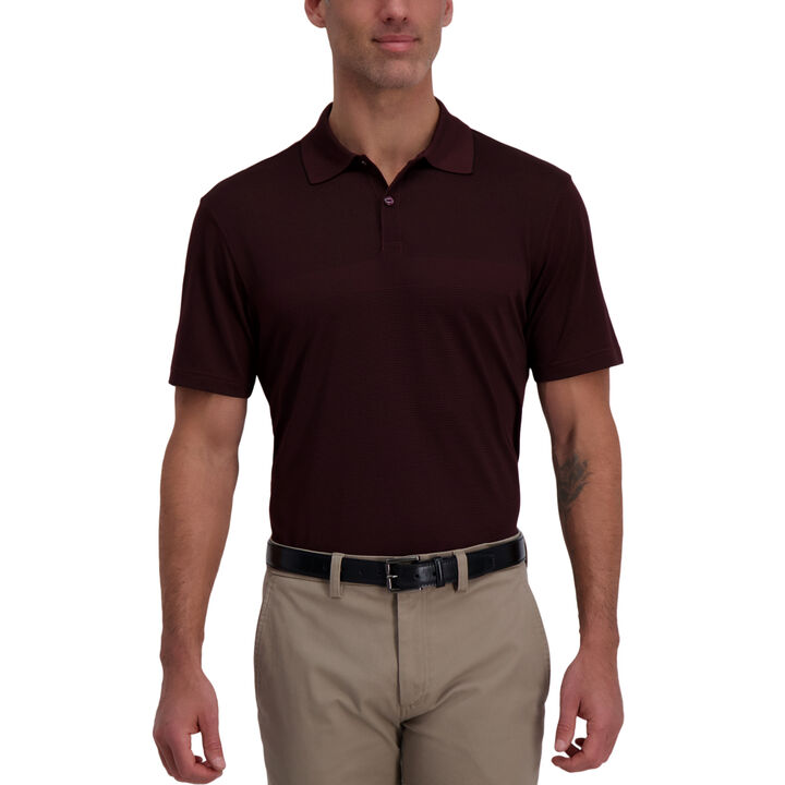 Cool 18® Pro Block Textured Golf Polo, Windsor WIne