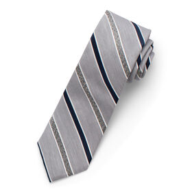 Wide Heather Striped Tie,