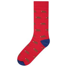 Bear Socks, Red