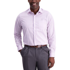 Multi Plaid Premium Comfort Dress Shirt, Pink