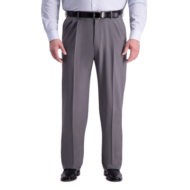 Big & Tall Premium Comfort Dress Pant, Medium Grey open image in new window