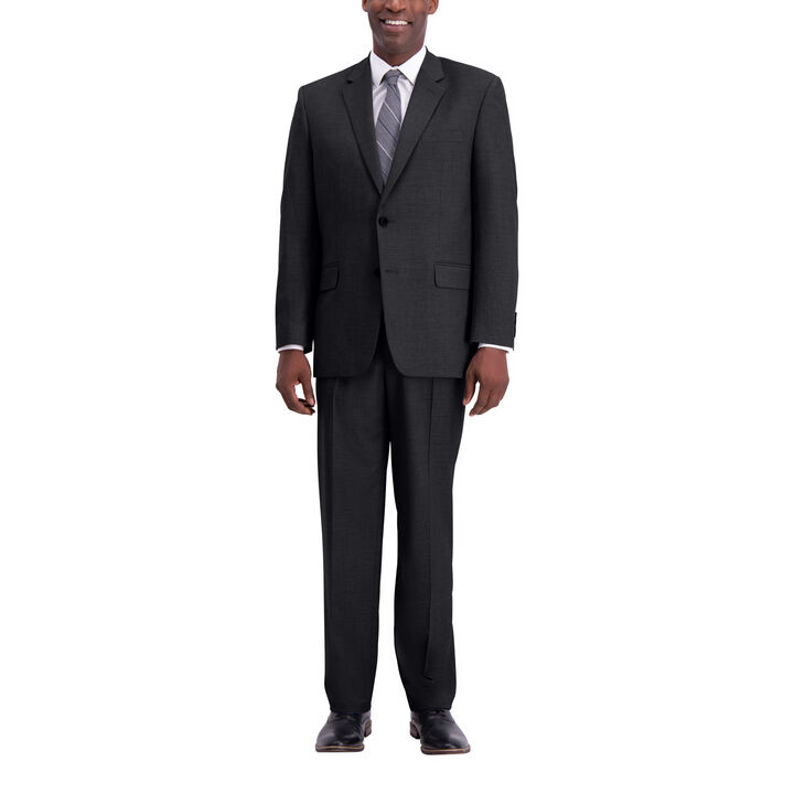 J.M. Haggar Texture Weave Suit Jacket, Charcoal Heather, hi-res