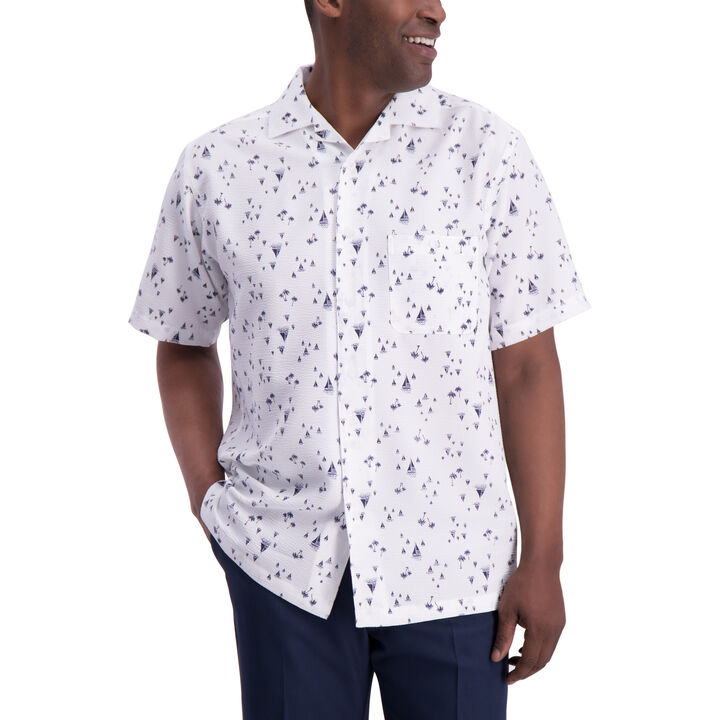 Sailboat Button Down Shirt, White open image in new window