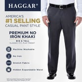 Big & Tall Premium No Iron Khaki, Dark Grey 5