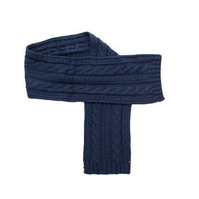 Cable Knit Scarf, Navy