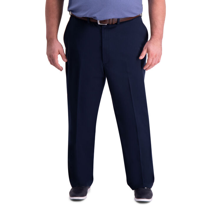 Big & Tall Premium Comfort Khaki Pant, Dark Navy open image in new window