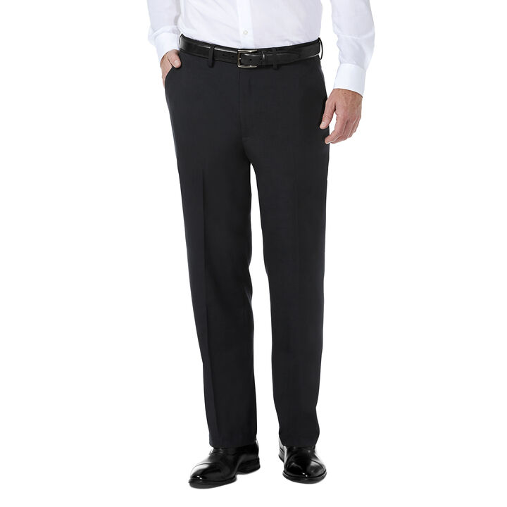J.M. Haggar Premium Stretch Shadow Check Suit Pant, Black