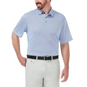 Cool 18® Golf Polo, Heather Blue