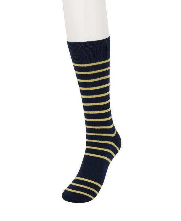 Navy Striped Socks, Navy open image in new window