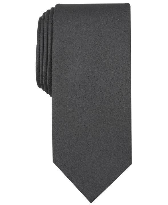 Carbon Solid Tie, Black