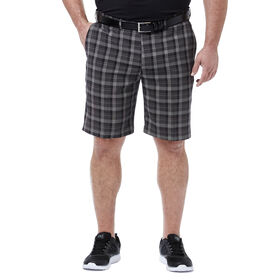 Big & Tall Cool 18® Pro Pinstripe Plaid Short, Black
