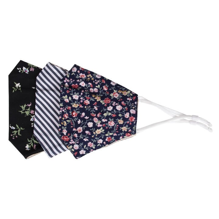 Be Wise Face Mask - Floral/Stripe, Assorted