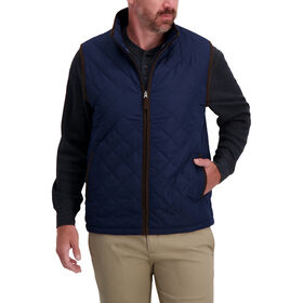 Diamond Quilted Puff Vest , Navy