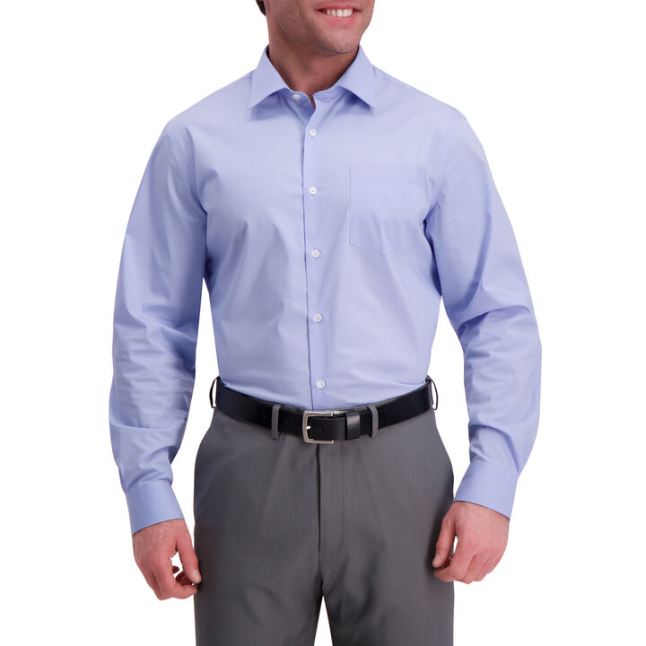 Light Blue Premium Comfort Dress Shirt, Light Blue open image in new window