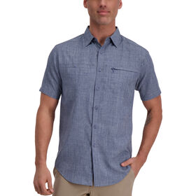 Solid Short Sleeved Shirt, Navy