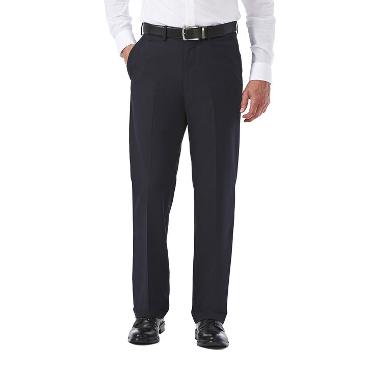 Big & Tall Premium Stretch Solid Dress Pant, Navy open image in new window