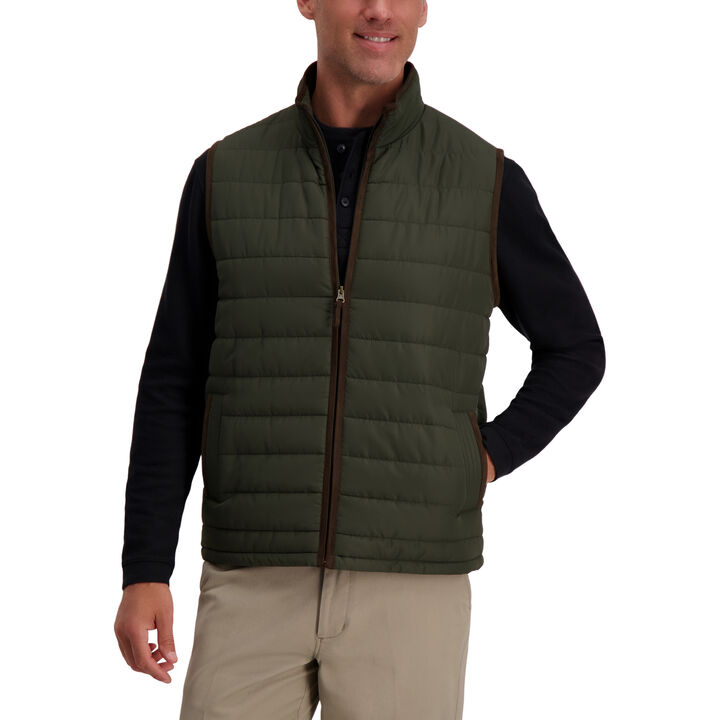 Channel Puffer Vest ,  Olive