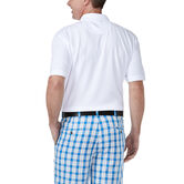 Solid Waffle Polo, White 2