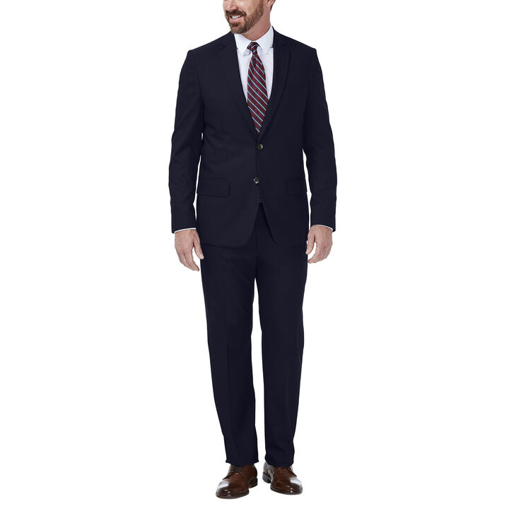 JM Haggar Dobby Suit Jacket, Navy, hi-res