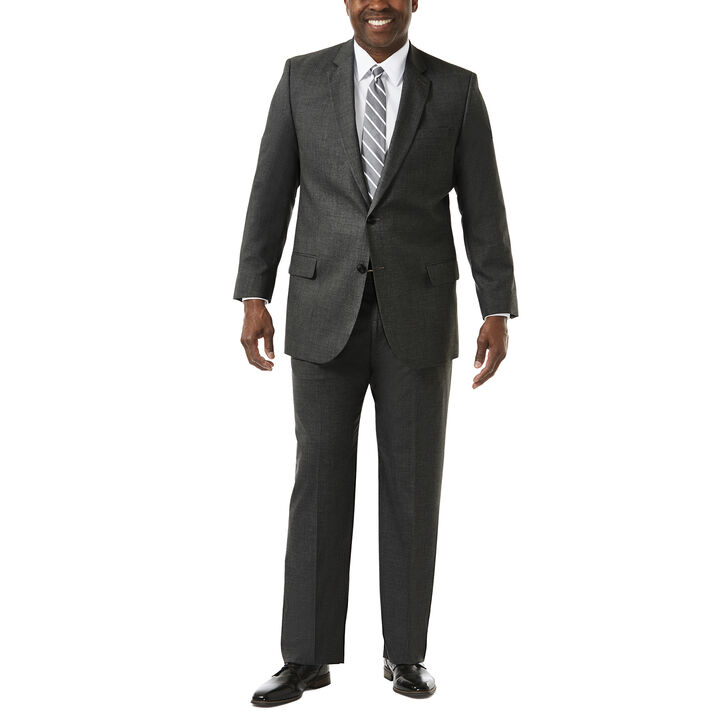Big & Tall J.M. Haggar Premium Stretch Suit Jacket, Dark Heather Grey open image in new window