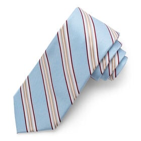 Stripe Tie, Light Blue