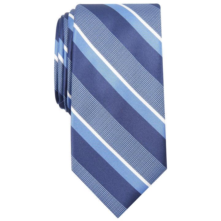Wide Stripe Tie, Navy