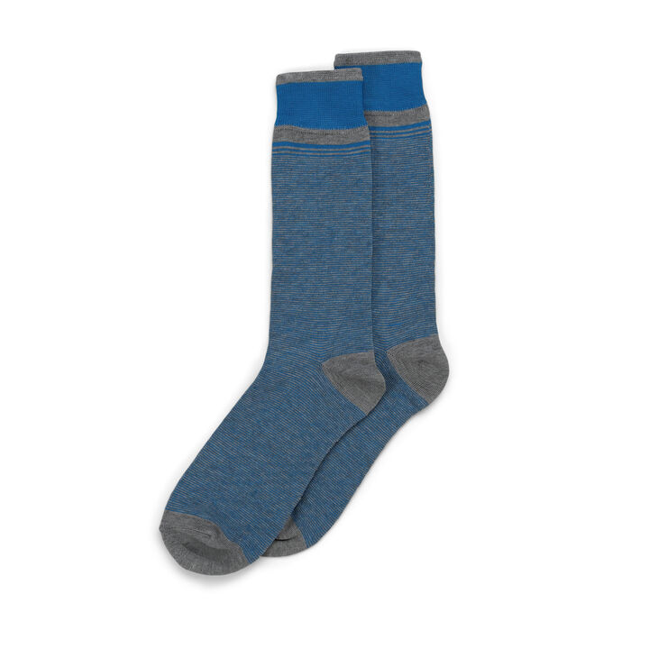 Graduated Stripe Socks, Medium Grey