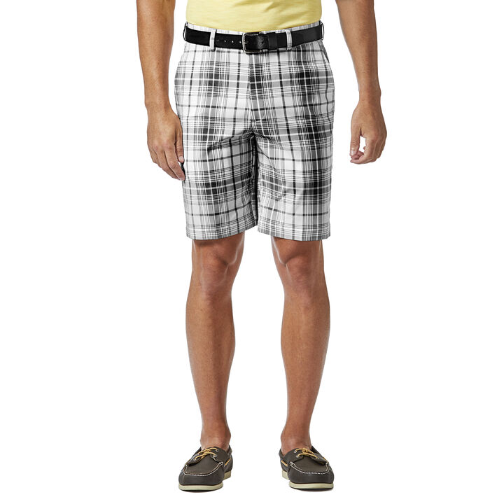 Cool 18® Pro Tonal Plaid Short, Black