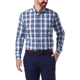 Plaid Button Down Shirt, Medium Blue