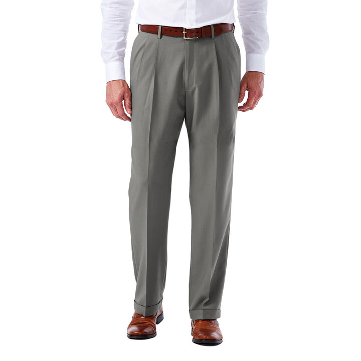 Big & Tall E-CLO™ Glen Plaid Dress Pant,