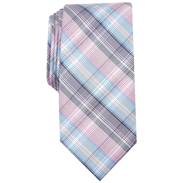 Andover Plaid Tie, Pink
