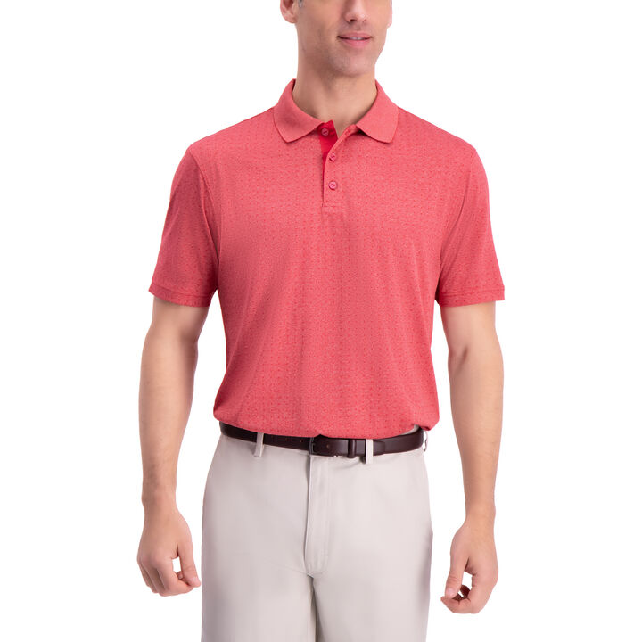 Tonal Golf Polo, Poppy