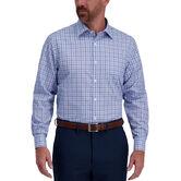 Light Blue Windowpane Premium Comfort Dress Shirt, Sky 1
